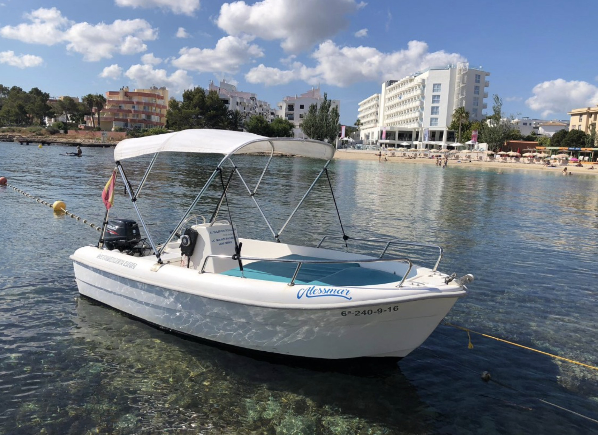 Boat Rental Without License 15 HP
